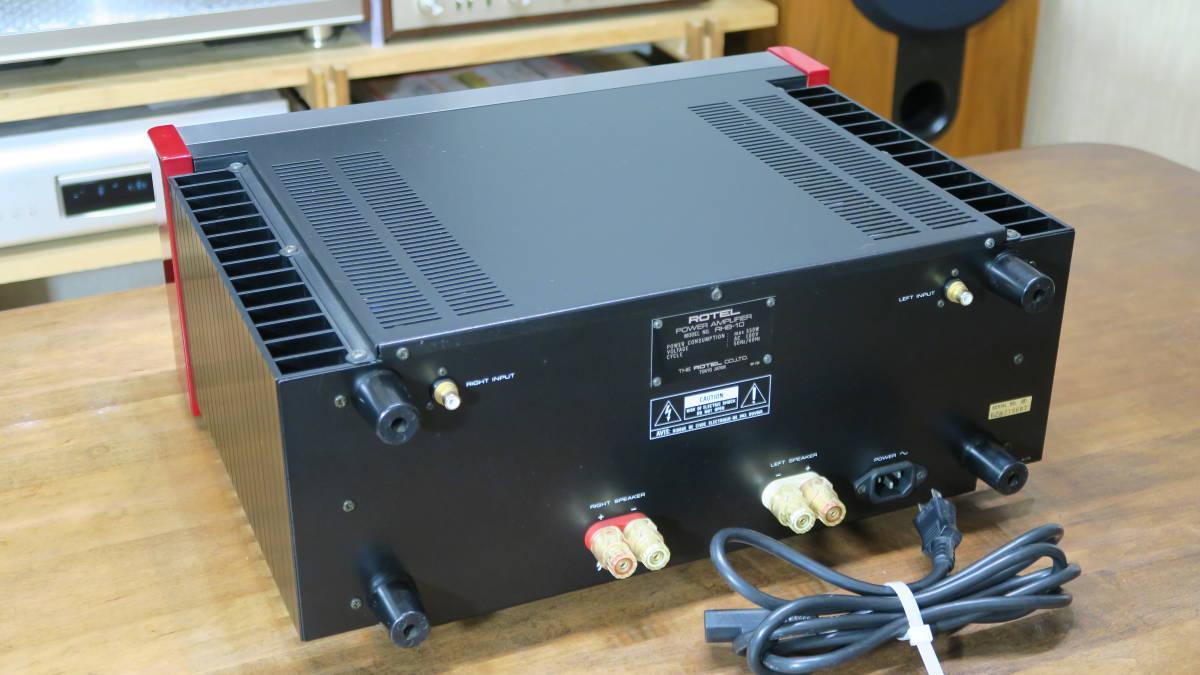 ROTEL ローテル RHB-10 パワーアンプ 200W×2_画像3