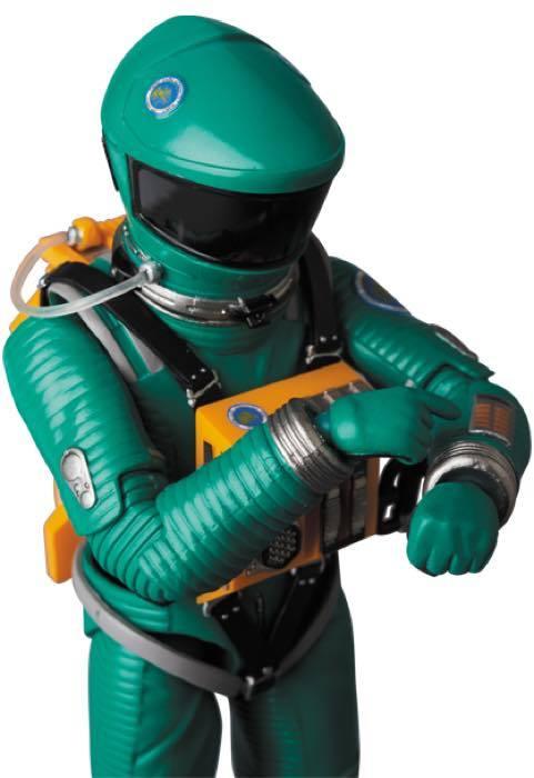 2001年宇宙の旅 アクションフィギュア MAFEX SPACE SUIT(GREEN Ver.)宇宙飛行士 アストロノーツ スタンリーキューブリック_画像9