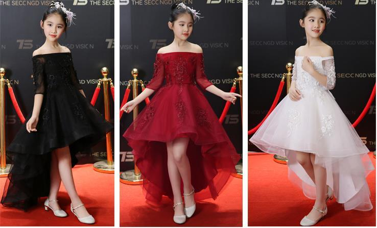 27a0130328bb0 ヤフオク! - 新品 子供ドレス 赤 黒 白 3色あり ...