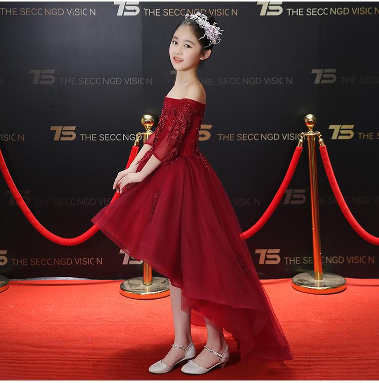 0976622263536 新品 子供ドレス 赤 黒 白 3色あり 演奏会 誕生日 七五三 ステージ衣装 ...