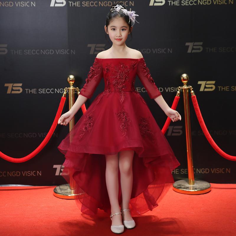 94ea7b5a6a94c 新品 子供ドレス 赤 黒 白 3色あり 演奏会 誕生日 七五三 ステージ衣装 100~160 01YM