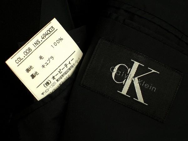 新品同様*Calvin Klein カルバンクライン CK*黒*ウール100%*メンズ*3釦*テーラードシングルジャケット*38*L相当*春秋冬_画像3
