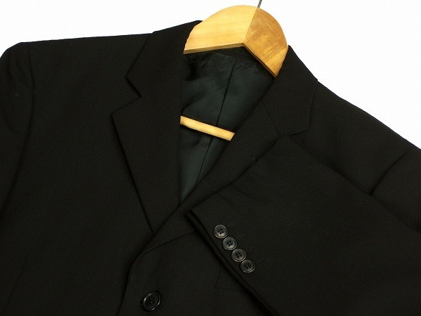 新品同様*Calvin Klein カルバンクライン CK*黒*ウール100%*メンズ*3釦*テーラードシングルジャケット*38*L相当*春秋冬_画像2