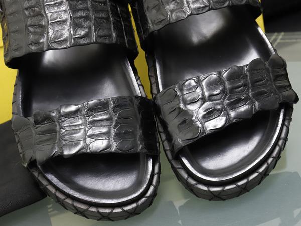 新品 FENDI HOMME 絶盤15SSコレクション限定リアルクロコダイルレザーサンダル メンズ7 紳士靴 クロコシューズ 箱シューバッグ付 本物 正規_画像5