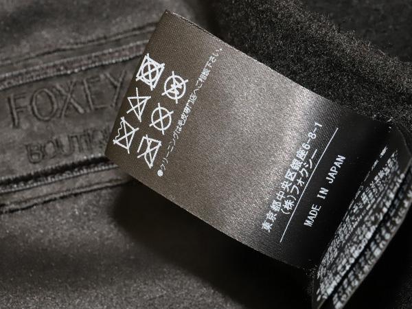 新品 フォクシーブティック 2017年VIPコート受注会 『ソフレ』 ミンクカシミアボレロコート 38 黒 ブラック ファージャケット 本物 正規_画像5