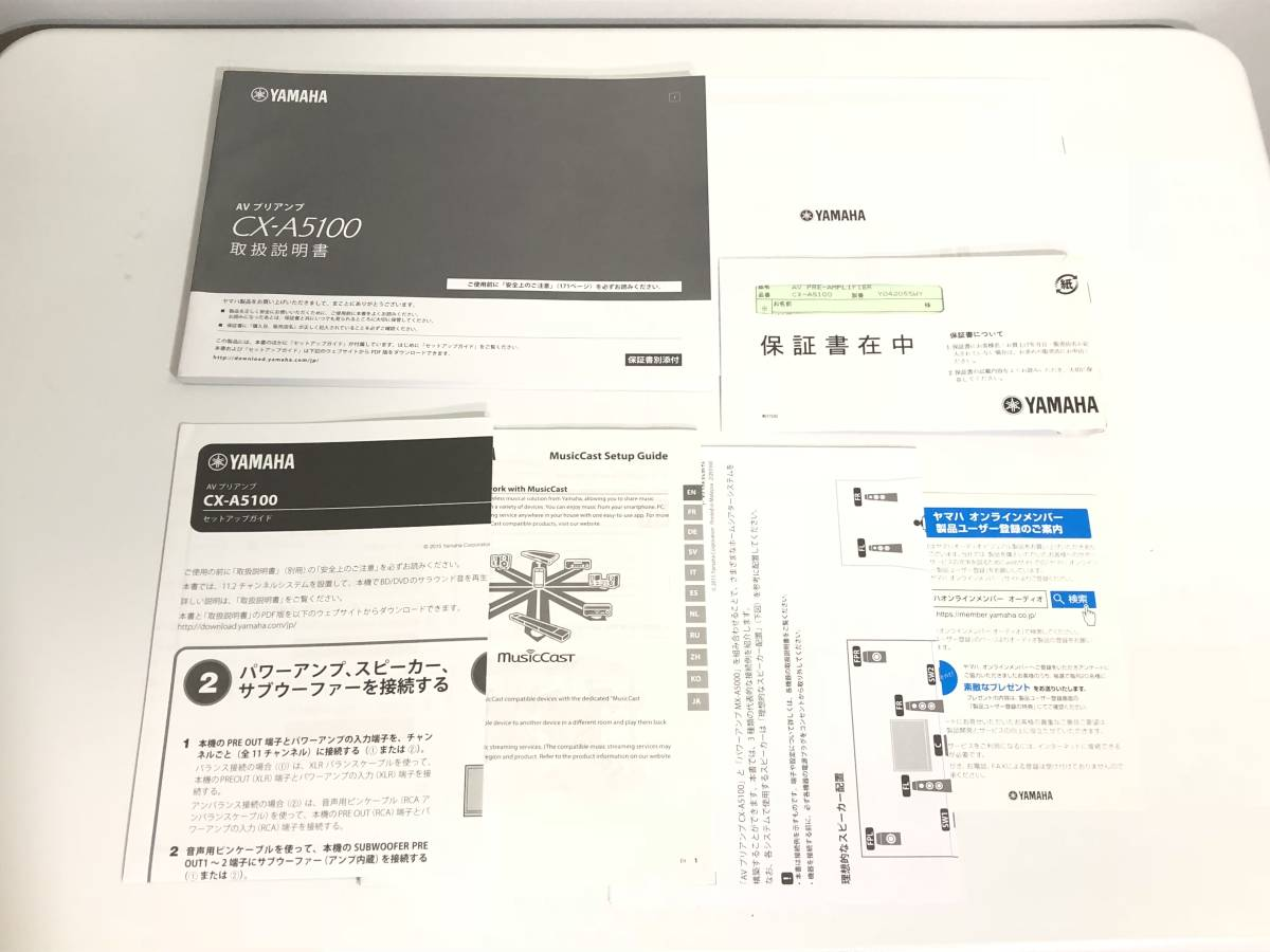 YAMAHA ヤマハ AVアンプ 11.2ch CX-A5100 ハイエンド AVプリアンプ チタン 美品 動作OK-日本代购网图片9链接