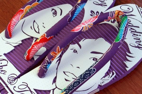沖縄らしい誕生日プレゼントにサプライズ似顔絵島ぞうりアート_画像8