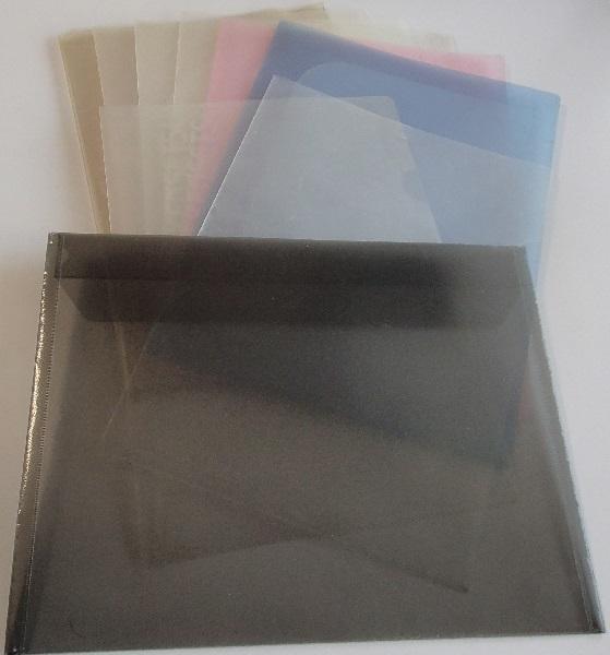 600/クリヤーホルダーファイル A4 2ポケット/クリアファイル/クリアケース 軟質塩ビ A3 山一證券/クリアファイルバッグ A4_全体