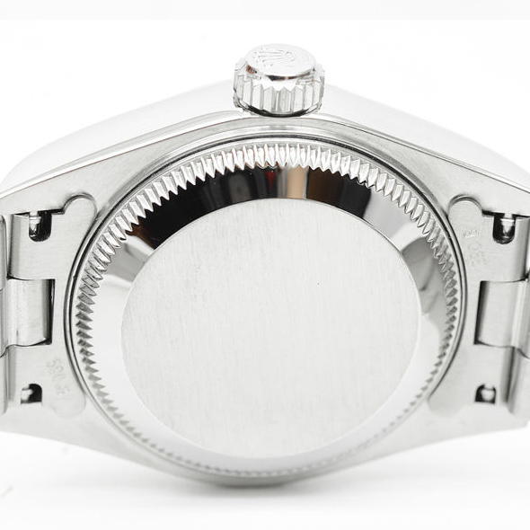 7p1325 税込即決! ROLEX オイスターパーペチュアル デイト 79160 F番 オーバーホール・仕上済 ロレックス ピンク レディース 腕時計_画像8