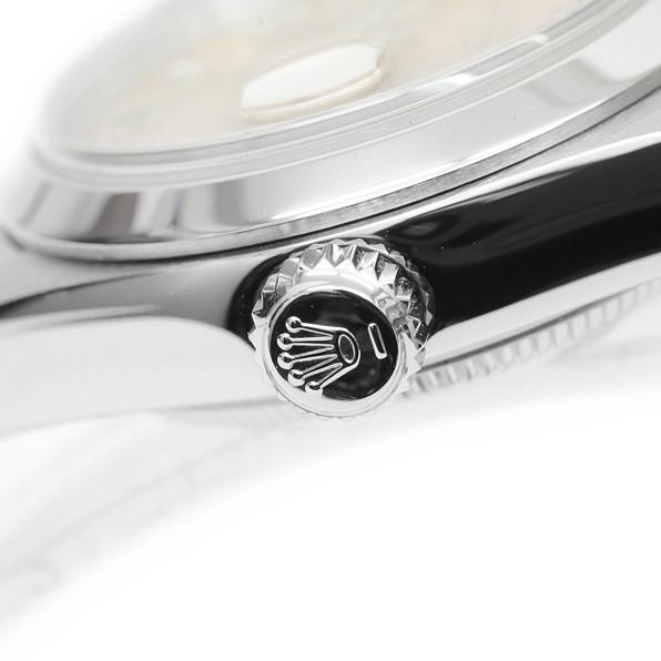 7p1325 税込即決! ROLEX オイスターパーペチュアル デイト 79160 F番 オーバーホール・仕上済 ロレックス ピンク レディース 腕時計_画像2