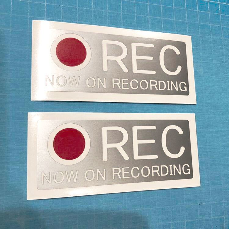 送料無料 ドライブレコーダー ステッカー 2枚組 シルバー レッド ドラレコ 30 ヘラフラ usdm スタンス 世田谷ベース ユーロ vip_画像1