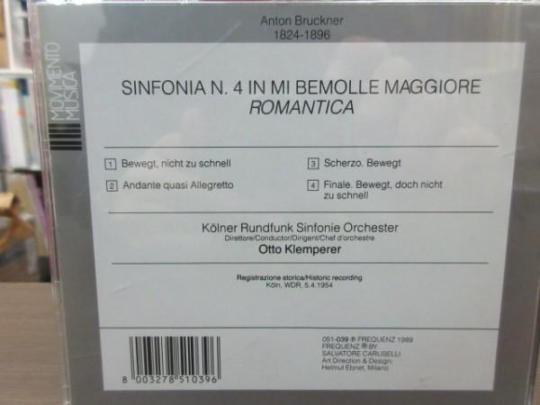 天11//CD///無傷!!★Movimento Musica ブルックナー:交響曲第4番/オットー・クレンペラー(Otto Klemperer)_画像2