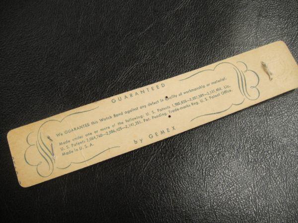 【18.9㎜ シルバー 直かん】 デッドストック 1940年代製 GEMEX USA製 SS エクスパンション バンド アンティーク 腕時計 ベルト メンズ B_画像3