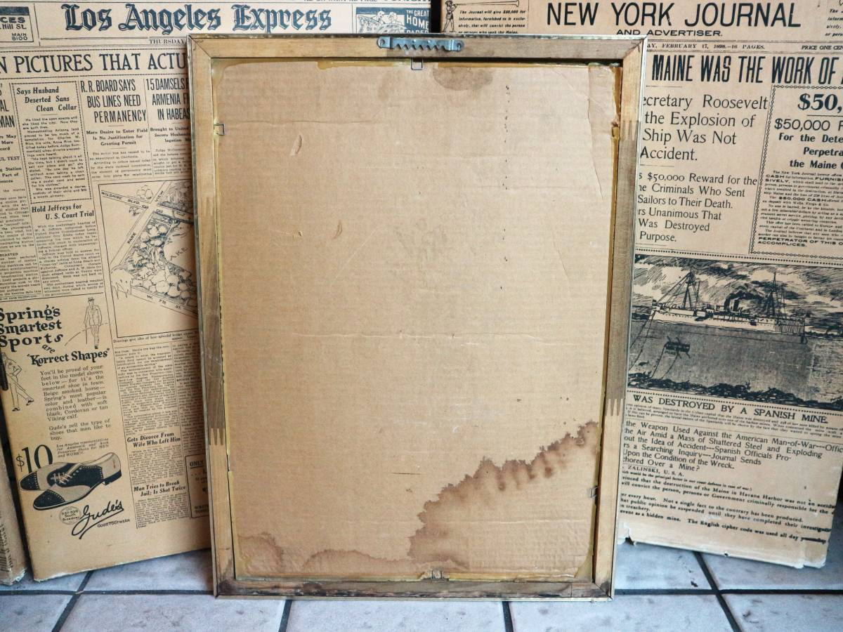 ビンテージ Coors COLD GOLD パブミラー クアーズ アメリカ インテリア小物 看板 壁掛け 飾り ウォールデコ BAR 鏡_画像6