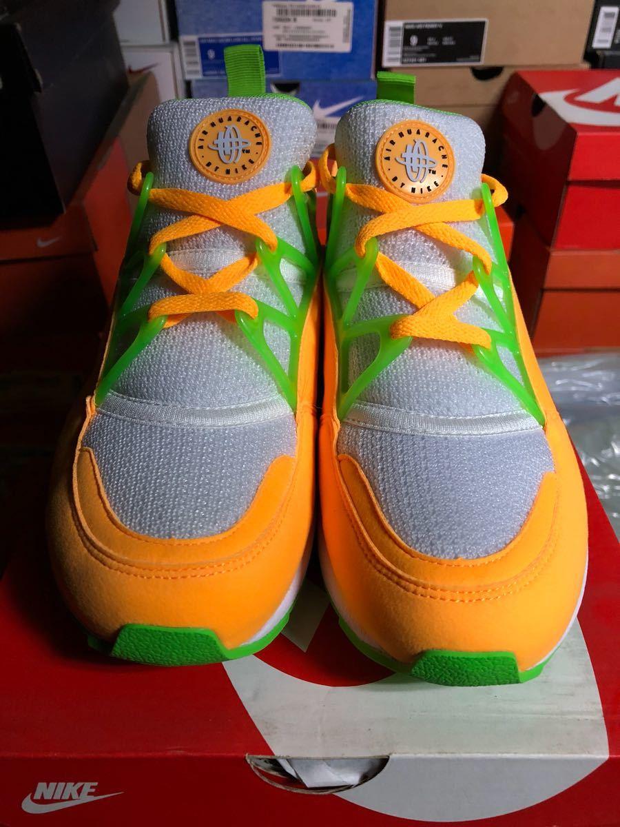 Nike Air Huarache Lite(ハラチ)白オレンジ us9(27cm)新品_画像2