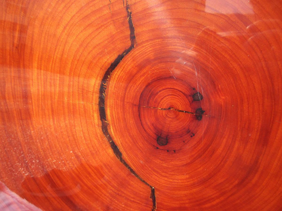 《輪切り座卓》一枚板★無垢★天然木★センターテーブル ちゃぶ台 座敷机 ローテーブル 和家具★横140~125 厚6.5 高35cm★引取り限定★_画像10