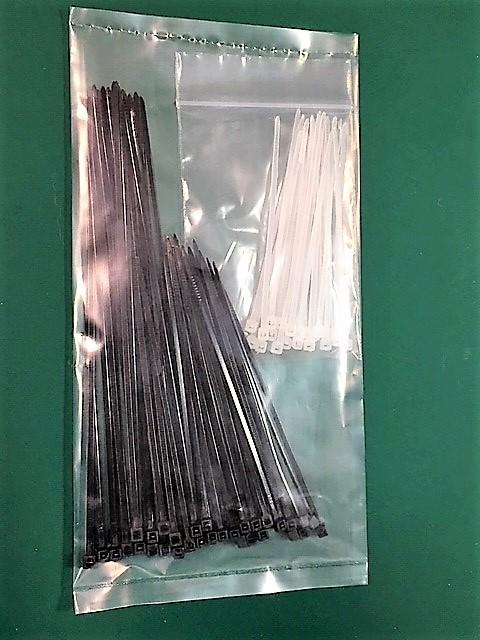増量◆タイラップ(結束バンド) 3種類サイズセット カラー / ブラック&ホワイト 計70本 b_画像2