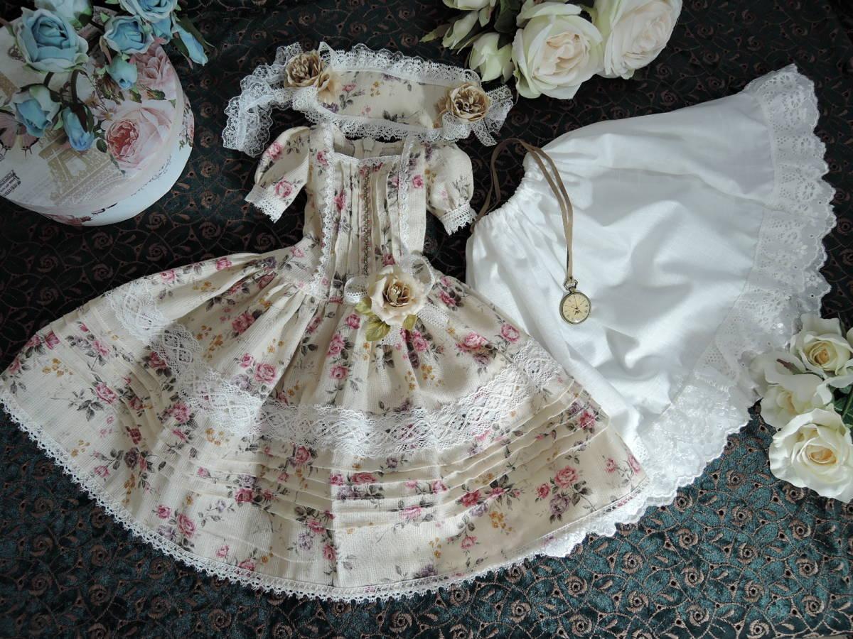 SD 13少女用 *手作り  花柄のドレス*_画像8