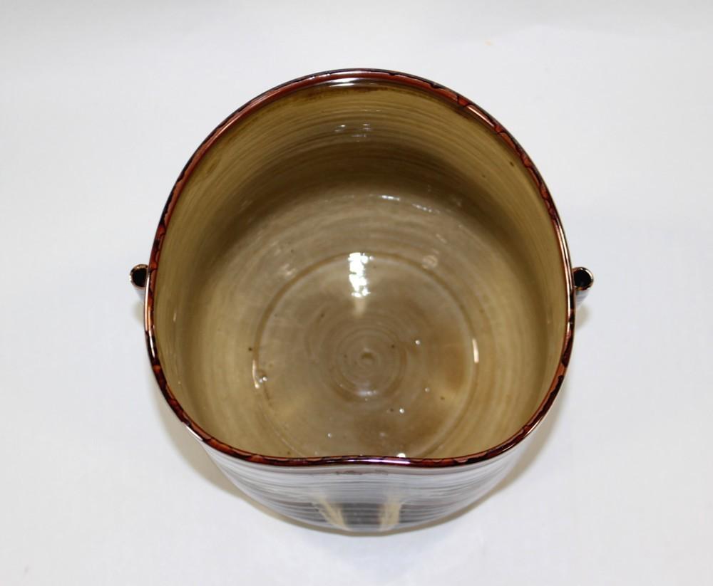 茶道具 高取黄釉管耳水指 味楽窯 亀井正久造◆rk11_画像8
