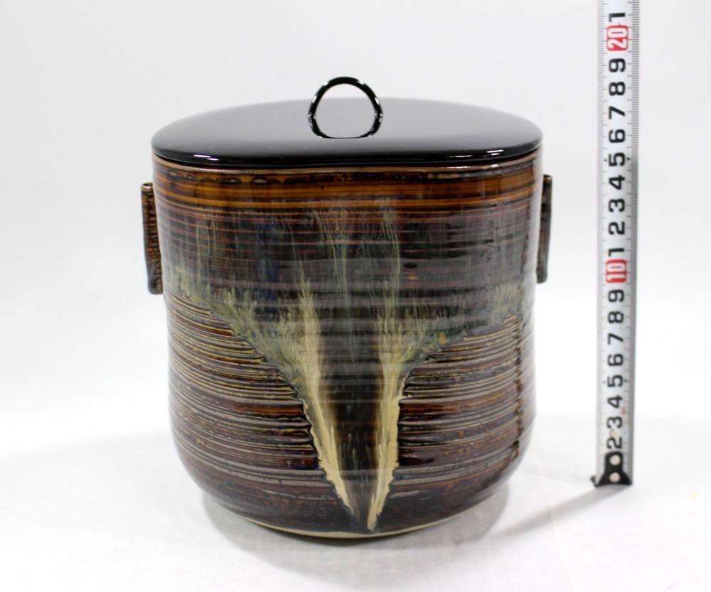 茶道具 高取黄釉管耳水指 味楽窯 亀井正久造◆rk11_画像6