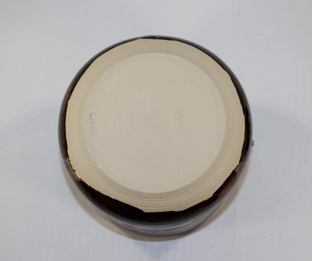 茶道具 高取黄釉管耳水指 味楽窯 亀井正久造◆rk11_画像9