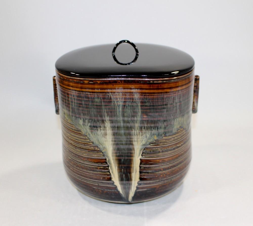 茶道具 高取黄釉管耳水指 味楽窯 亀井正久造◆rk11_画像2
