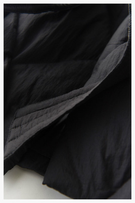 新到貨全新優雅光環成人規格最佳上衣羽絨服80%羽絨A線緞帶女式羽絨服黑色L 編號:t606431568