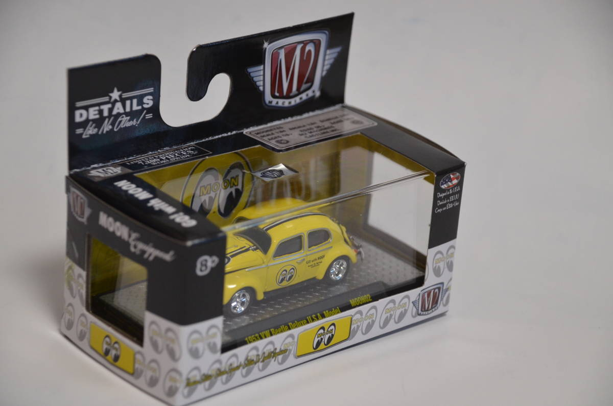 M2 MACHINES 1953 VW Beetle Deluxe U.S.A. Model Mooneyes★ワーゲンビートル ムーンアイズ★7200台限定 1:64_画像3