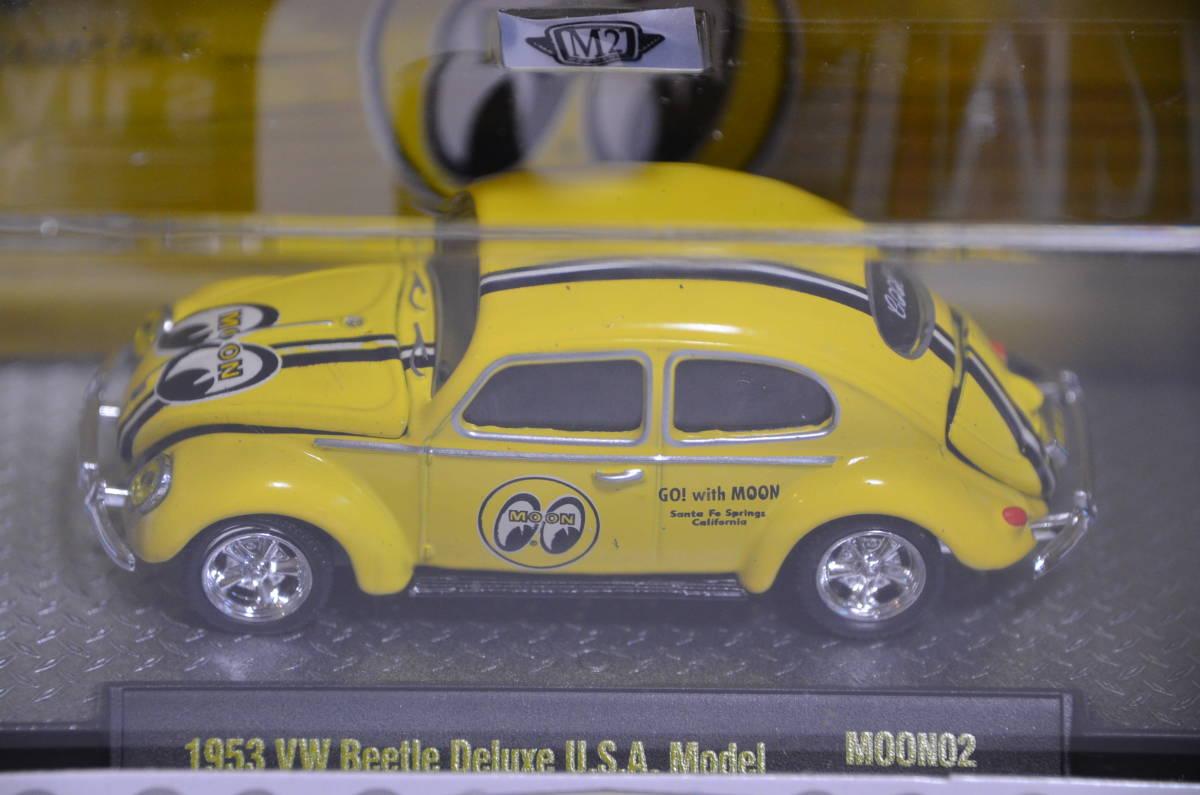 M2 MACHINES 1953 VW Beetle Deluxe U.S.A. Model Mooneyes★ワーゲンビートル ムーンアイズ★7200台限定 1:64_画像2