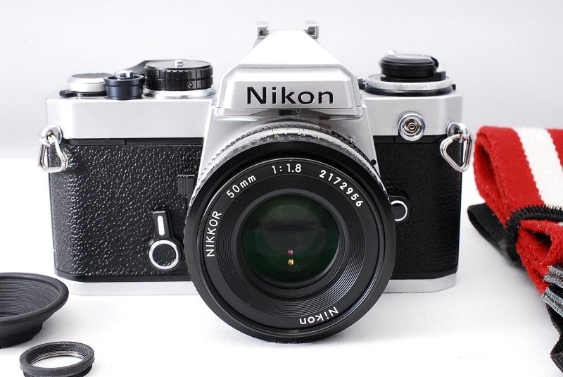 ★超希少美品・ワンオーナー品★Nikon ニコン FE NIKKOR 50mm F1.8 レンズセット 動作確認済み ニコンコレクター必見です!_画像1