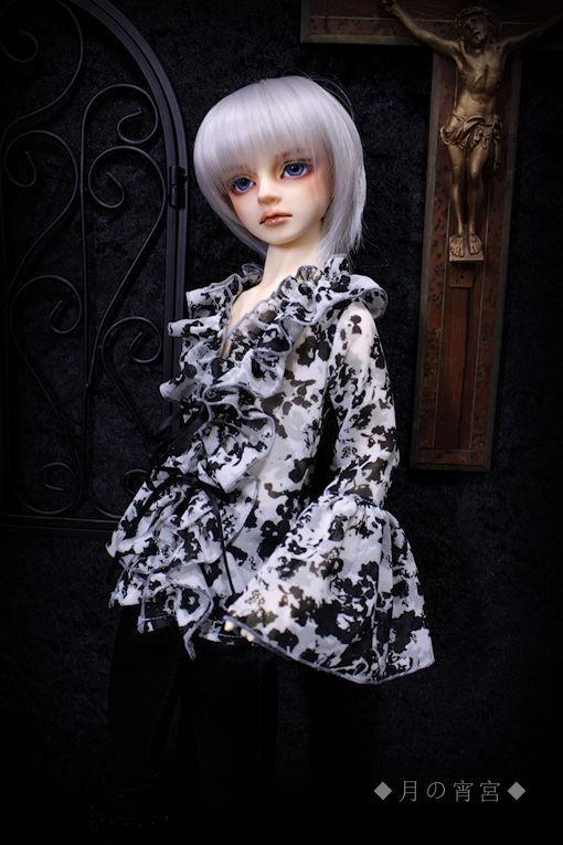 ◆月の宵宮◆SD13B/SDGrB◆フリルブラウス◆Black Bloody Mist◆_画像2