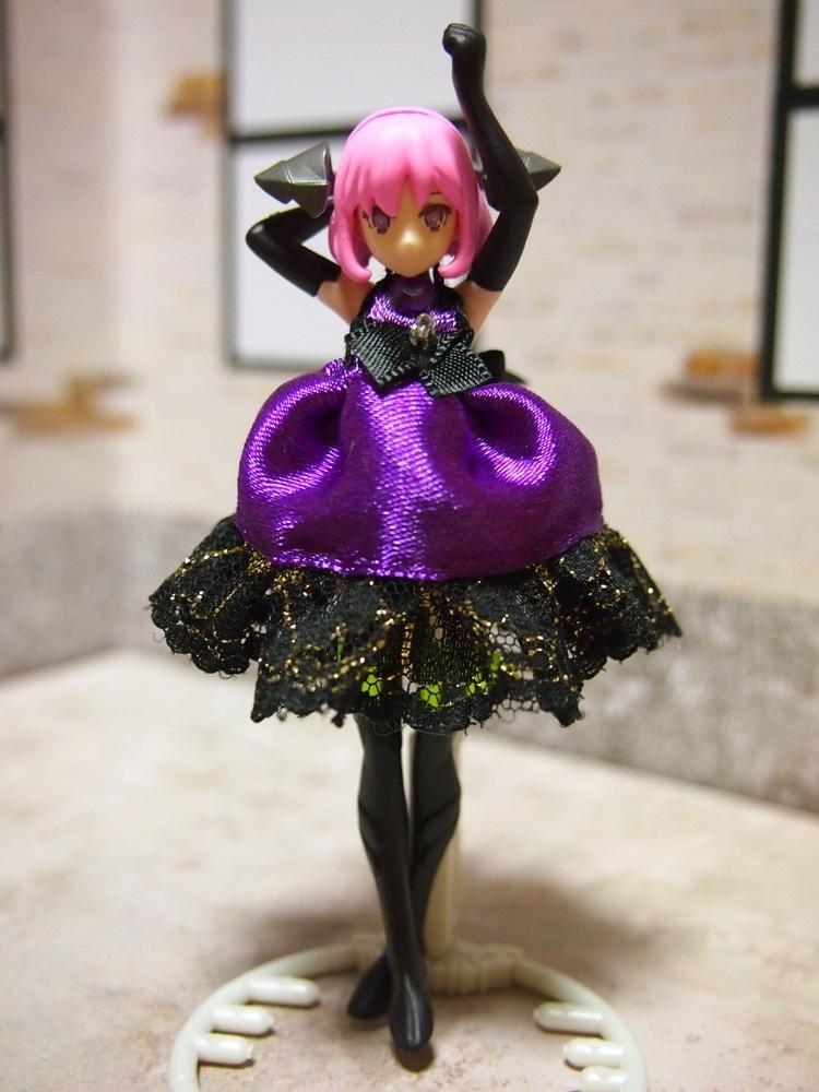 【兎堂】紫のドレス 布服 換装少女 換装重機コミットボディ_画像1
