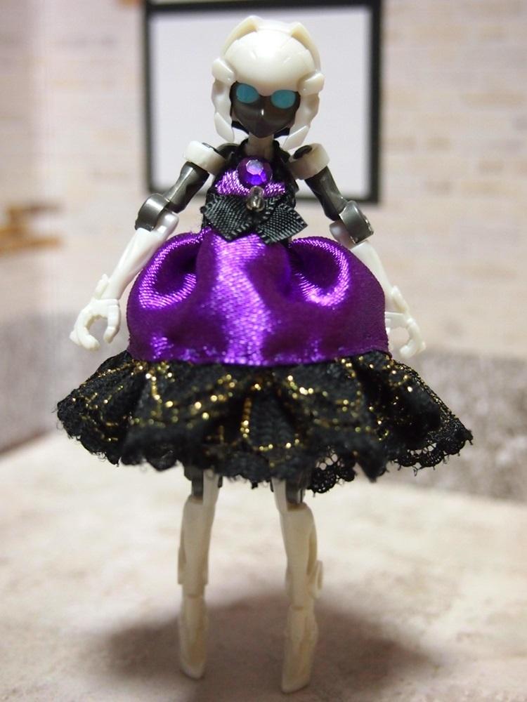 【兎堂】紫のドレス 布服 換装少女 換装重機コミットボディ_画像4