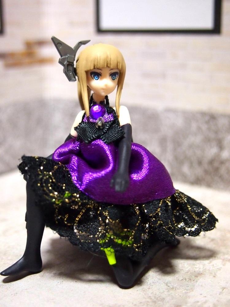 【兎堂】紫のドレス 布服 換装少女 換装重機コミットボディ_画像3