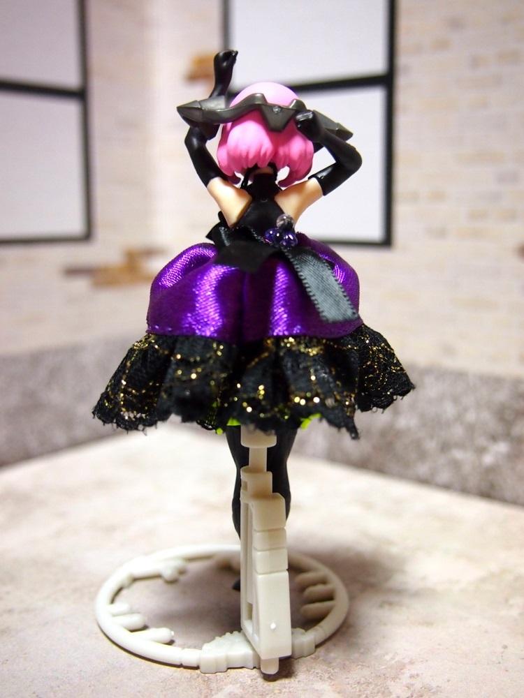 【兎堂】紫のドレス 布服 換装少女 換装重機コミットボディ_画像2