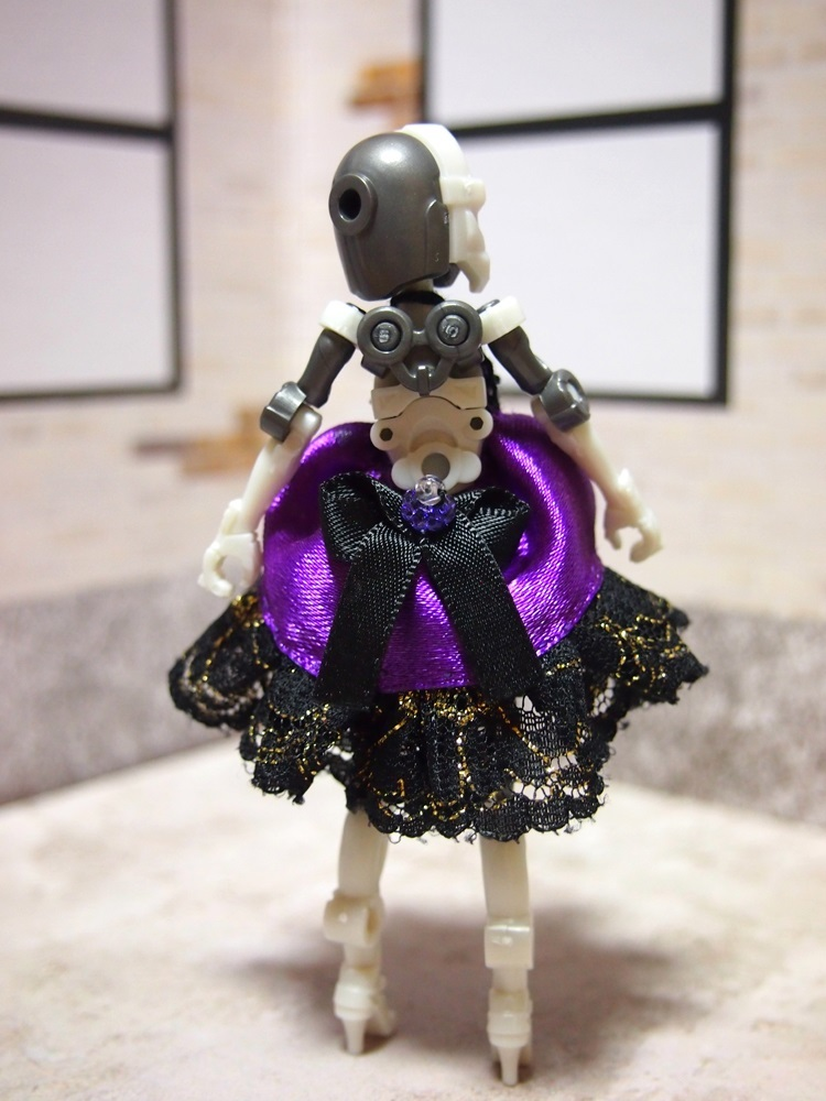 【兎堂】紫のドレス 布服 換装少女 換装重機コミットボディ_画像5