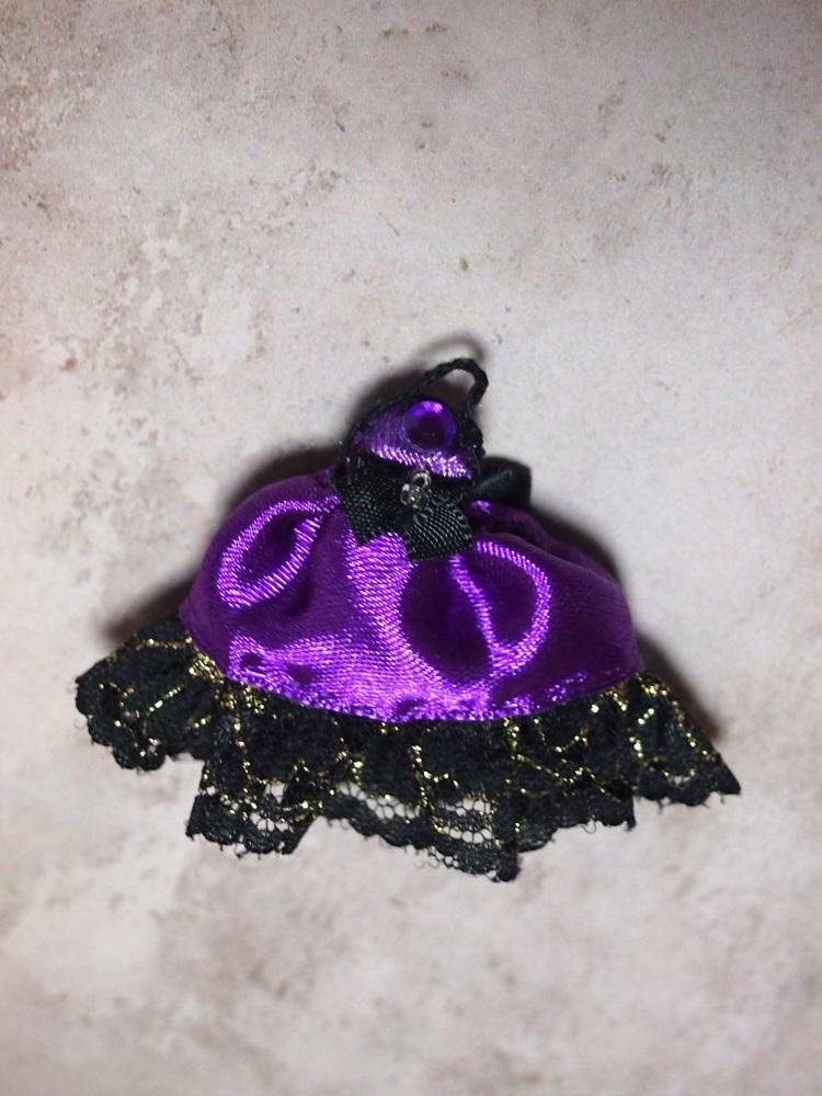 【兎堂】紫のドレス 布服 換装少女 換装重機コミットボディ_画像6