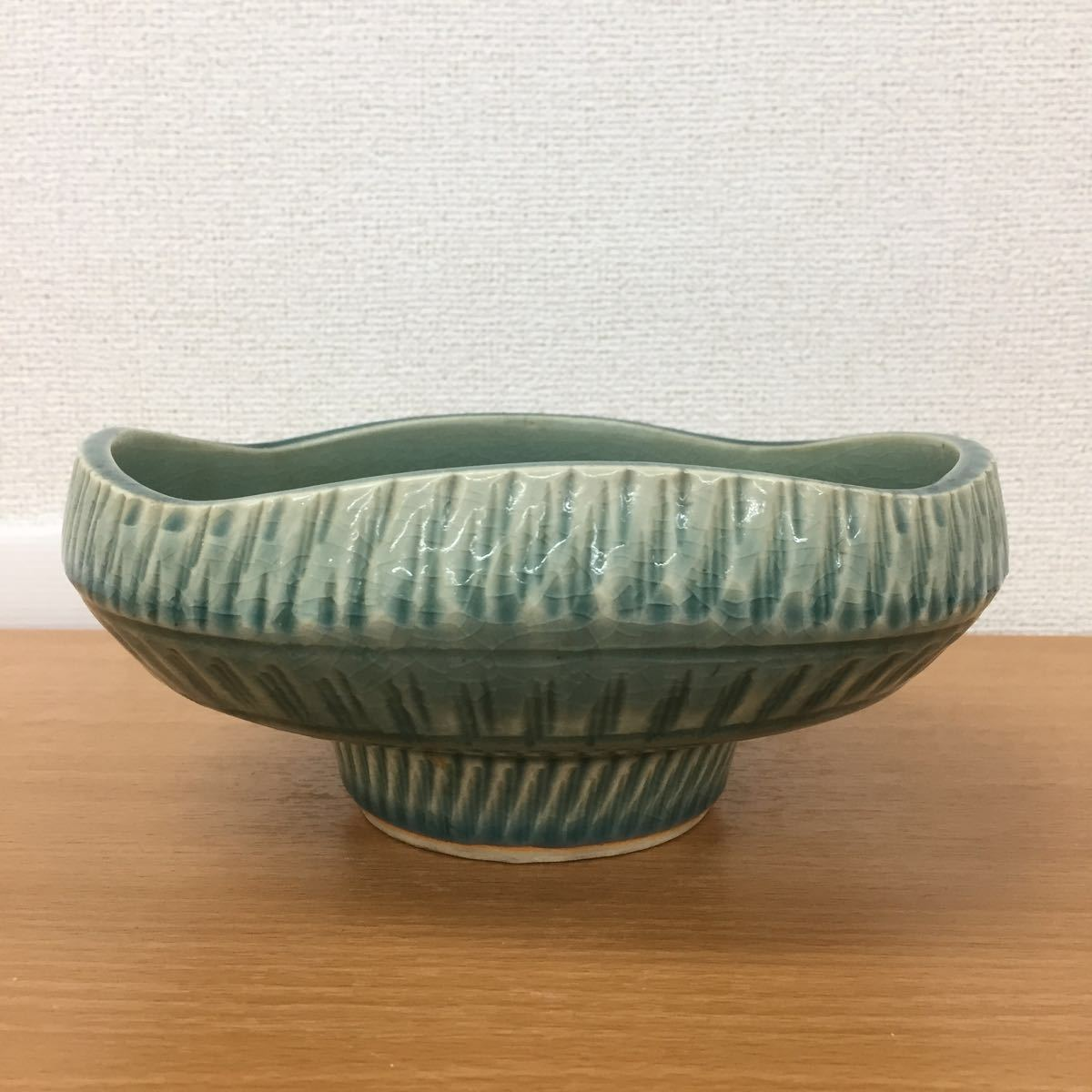MK0227】中古品 陶器 花器 生花 盆栽_画像3