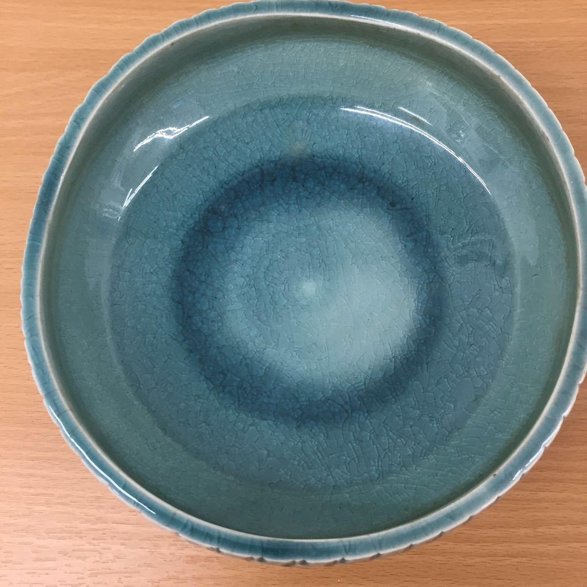 MK0227】中古品 陶器 花器 生花 盆栽_画像6