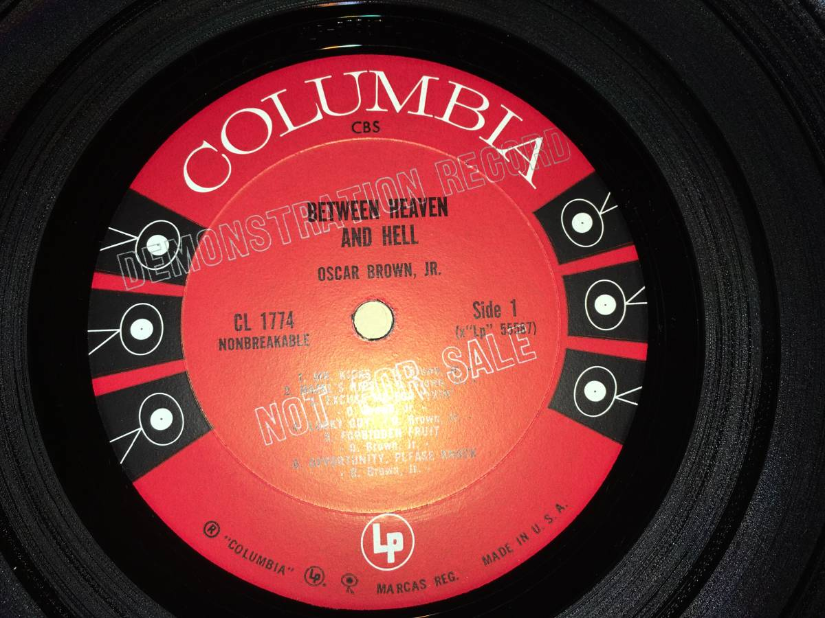 LPレコード/プロモ盤/US盤/CL1774●オスカーブラウンジュニアOscar Brown Jr. / Between Heaven And Hell_画像4