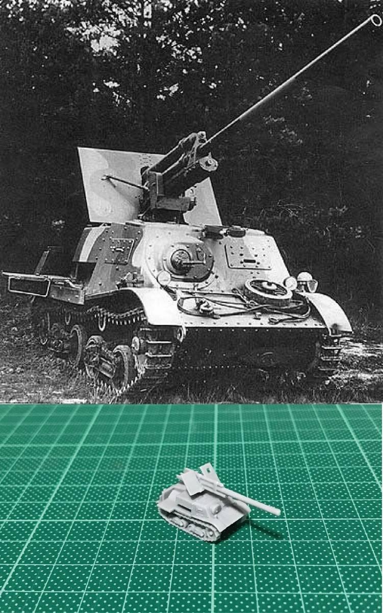 1/144 未組立 WWII Russian ZIS-30 57mm SPG Resin Kit (S086)