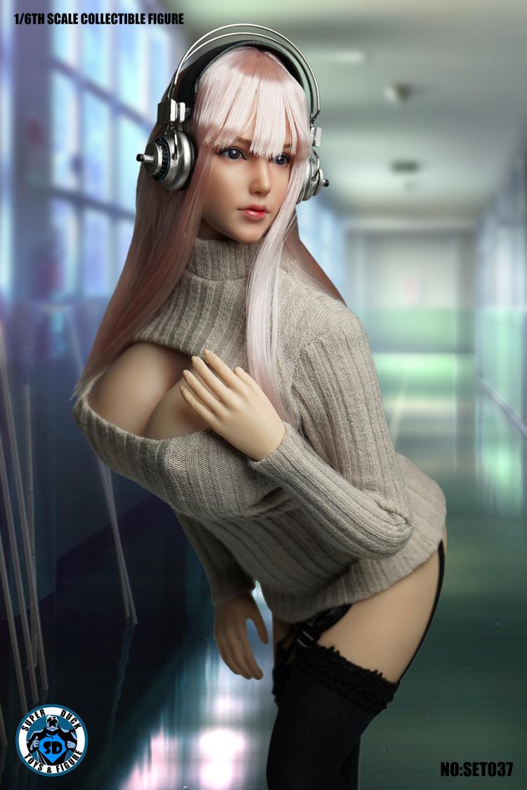 送料無料SUPER DUCK TBLeague1/6スケール女性素体専用ヘッドパーツ&衣装セットSET037 _画像2