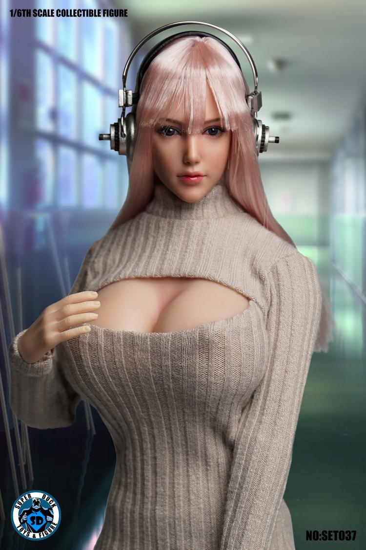 送料無料SUPER DUCK TBLeague1/6スケール女性素体専用ヘッドパーツ&衣装セットSET037 _画像7