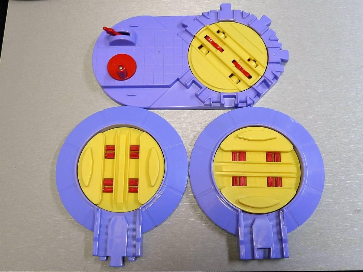 プラレール チャギントン 回転台 3種類 自動と手動 中古品_画像1