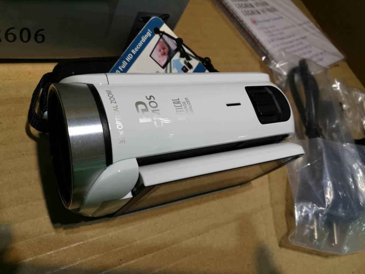 【値下即決】超美品 Canon キャノン HFR606 ビデオカメラ ホワイト 32X zoom 海外版 日本語対応 送料無料_画像3