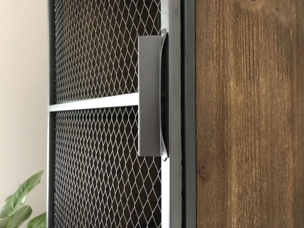 メッシュ 2段キャビネット インダストリアル 西海岸 ブルックリンスタイル アイアン・ウッド 完成品(脚取り付けあり) 棚 ラック_画像8