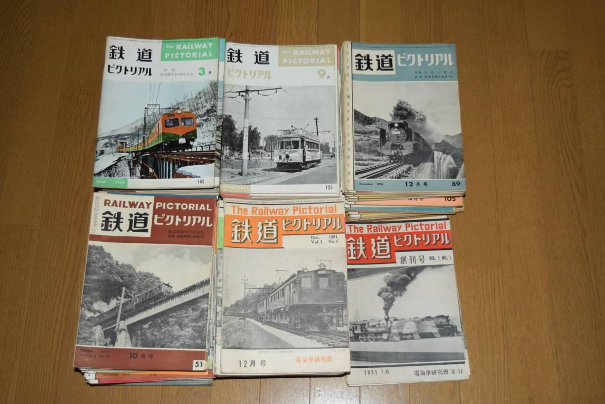 ●値下げ●鉄道ピクトリアル。創刊号より184号まで。177冊。_画像1