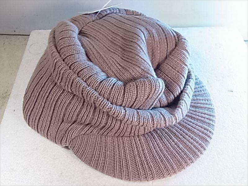 オスロー帽子 サイズフリー ベージュ ツバ付きタ ニット帽 未使用品_画像6