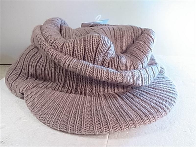 オスロー帽子 サイズフリー ベージュ ツバ付きタ ニット帽 未使用品_画像7