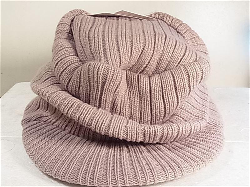 オスロー帽子 サイズフリー ベージュ ツバ付きタ ニット帽 未使用品_画像1